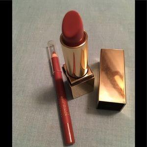 Estée Lauder Lipstick in Desirable & Rose Lipliner